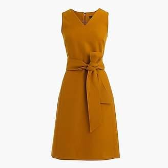 J.Crew Petite V-neck sheath dress in double-serge wool