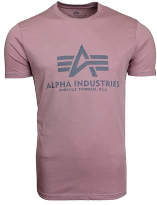 Alpha Industries Logo T Silver Pink
