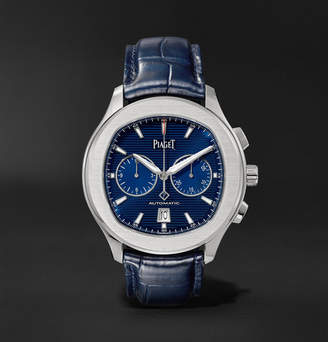 Piaget Polo S Automatic 42mm Stainless Steel and Alligator Watch - Men - Blue