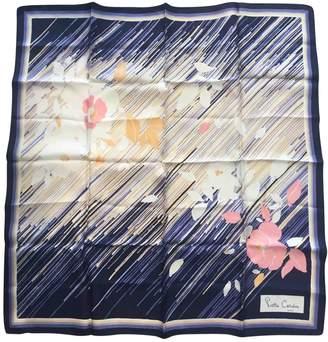 Pierre Cardin Blue Silk Silk handkerchief