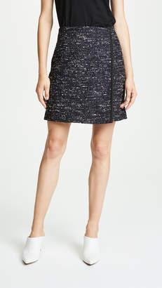 ADAM by Adam Lippes Cotton Tweed Wrap Miniskirt