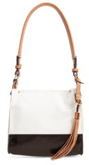 Sondra Roberts Colorblock Faux Leather Mini Hobo Bag