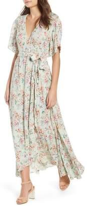 Raga Secret Escape Floral Faux Wrap Maxi Dress