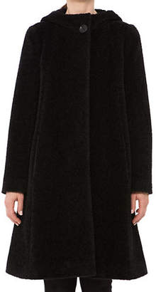 Cinzia Rocca Icons Hooded A-Line Wool-Blend Coat