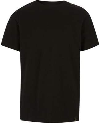 River Island Boys black waffle crew neck T-shirt