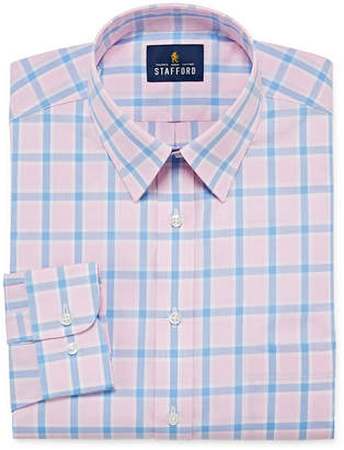 STAFFORD Stafford Super Shirt Dress Shirt with Comfort Stretch, Stain Repel and Wrinkle Free Big and Tall