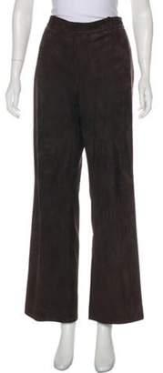 Agnona Suede High-Rise Pants Suede High-Rise Pants