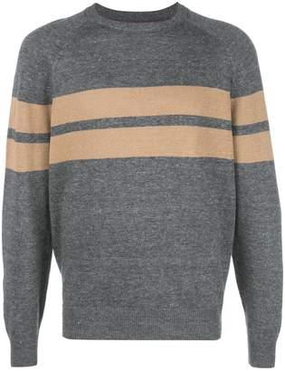 Brunello Cucinelli stripe crew knit sweater