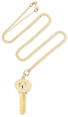 Foundrae - Protection 18-karat Gold, Brass And Diamond Necklace