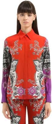 Roberto Cavalli Gradient Printed Silk Shirt