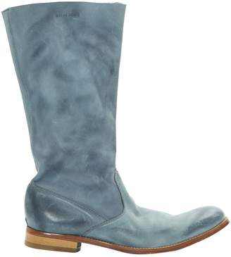 Zadig & Voltaire Blue Leather Boots