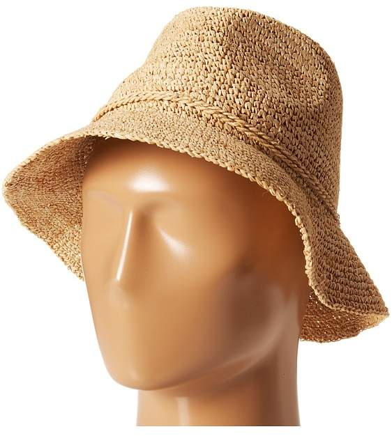 San Diego Hat Company - RHS3106 Crochet Raffia Bucket Bucket Caps