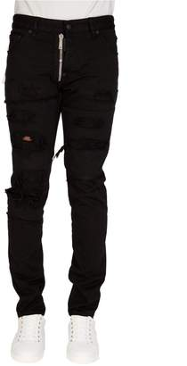 DSQUARED2 Dsquared Cool Guy External Zip Jeans Black