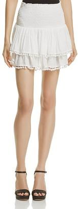 AQUA Pom-Pom Skirt - 100% Exclusive $78 thestylecure.com