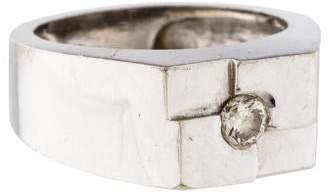 Ring 14K Diamond Signet