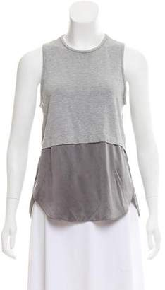 Elizabeth and James Silk-Accented Tank Top
