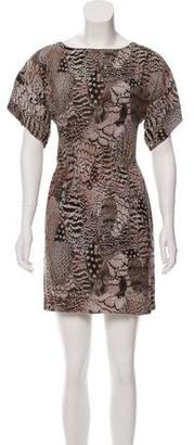 Rag & Bone Feather Print Silk Dress