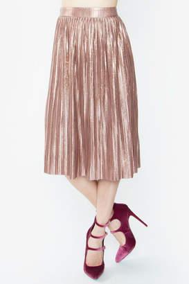 Sugar Lips Minori Pleated Metallic Skirt