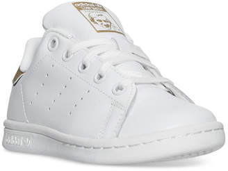 adidas Little Girls' Stan Smith Casual Sneakers from Finish Line $59.99 thestylecure.com