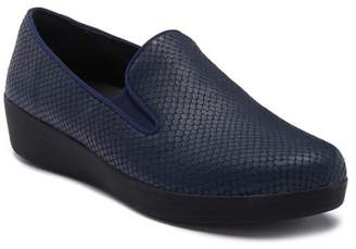 FitFlop Superskate Snake Embossed Wedge Slip-On Sneaker