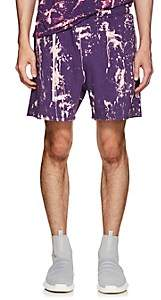 Siki Im Men's Bleach-Splattered Drawstring Shorts-Purple
