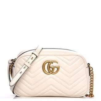 Gucci Marmont Camera Bag Matelasse Interlocking GG Logo Small White