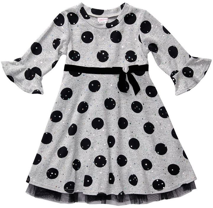 Youngland dot dress - toddler