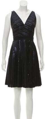 Proenza Schouler Pleated Mini Dress Blue Pleated Mini Dress