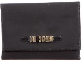Moschino Compact Logo Wallet $65 thestylecure.com