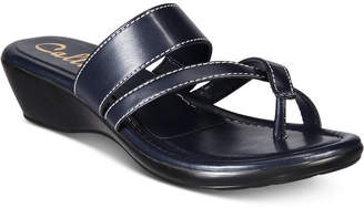 Callisto Barnaget Slide Thong Wedge Sandals