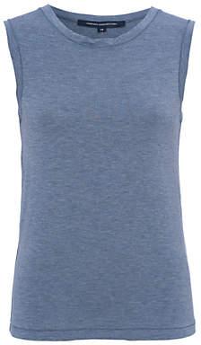 French Connection Marley Jersey Vest, Blue Grey Melange