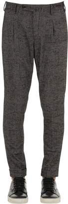 Pt01 Preppy Fit Wool Prince Of Wales Pants