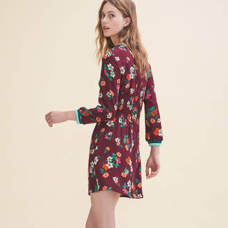 Maje Flowing dress with a retro print