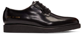 Common Projects Black Crepe Sole Shine Derbys