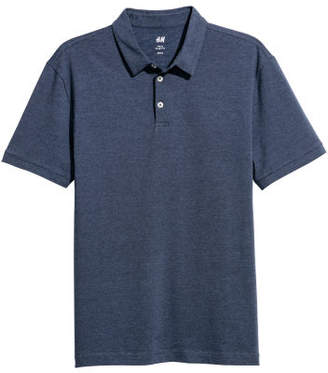H&M Polo Shirt Slim fit - Blue