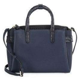 Nancy Gonzalez Cristie Crocodile& Leather Shoulder Bag