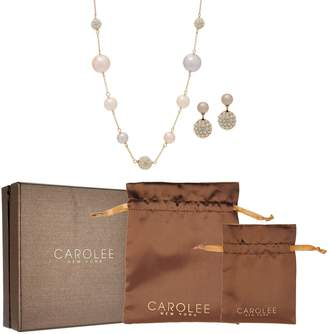 Carolee Bryant Park Simulated Pearl Station Necklace Set