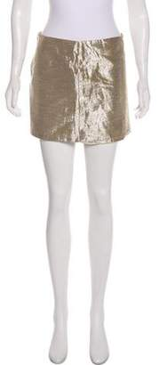 Alice + Olivia Metallic Mini Skirt