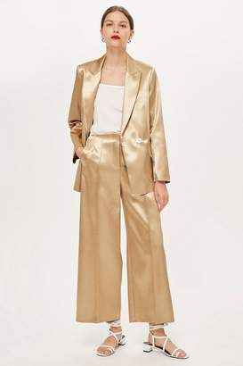 Topshop Metallic Culottes by Boutique