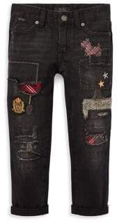 Ralph Lauren Girl's Patch Jeans
