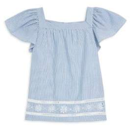Vineyard Vines Little Girl's& Girl's Stripe Ruffle Top