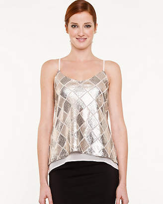 Le Château Sequin Check High-Low Camisole