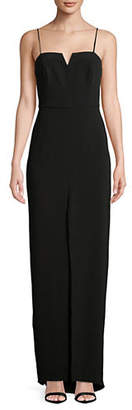 Halston H Front Slit Strappy Gown