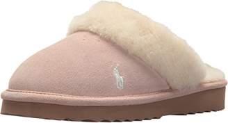Ralph Lauren Women's Polo Charlotte Gen Suede Scuff Slip on Slipper