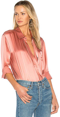 Alexander Wang Wrap Shirt Bodysuit