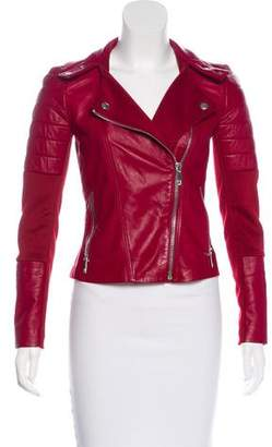 Pinko Leather Moto Jacket