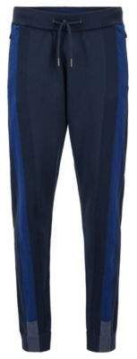 BOSS Hugo Reflective-detail jogging pants in stretch fabric Thermolite& XXL Dark Blue