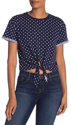 Elodie Polka Dot Tie Front Shirt