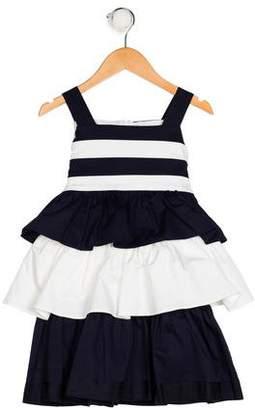 Oscar de la Renta Girls' Sleeveless Tiered Dress w/ Tags