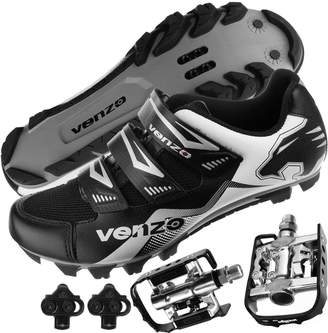 Shimano Venzo Mountain Bike Bicycle Cycling SPD Shoes + Multi-Use Pedals 44